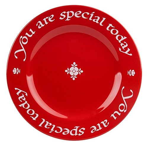 Earthenware Plates - Waechtersbach Plate, You Are Special Today Red Plate