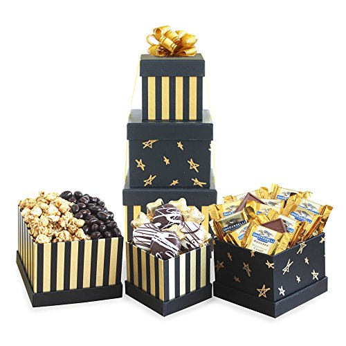 Delicious Delights Basket (California Delicious Black and Gold Elegance Gift Basket, 4 Pound)
