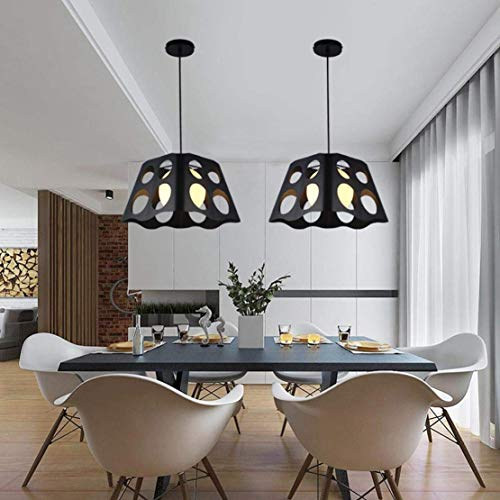 Hanging Lamp Led Light Modern Fashion Pendent Lamp Loft Metal Iron Art Hollow Lampshade Chandelier Indoor Decorative Pendent Lamping for Dining Table Dining Hall Studio Coffee Shop, ()