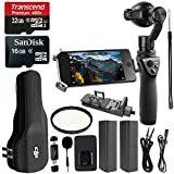 DJI OSMO Handheld Fully Stabilized 4K Camera 425, DJI Battery, 32GB Memory Card, Ritz Gear Card Reader and Accessory Bundle