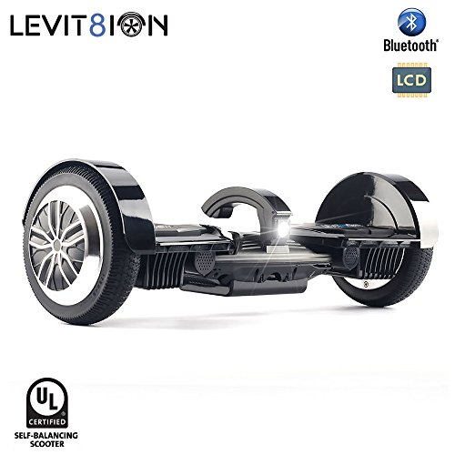 LEVIT8ION ULTRA 7.5' Hoverboard - Self Balancing 2 Wheel Electric Scooter - UL Certified & Detachable Samsung Battery, Bluetooth, App And LCD Screen (Black)