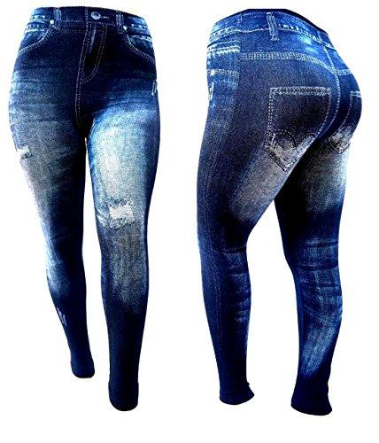 Womens S-M-L Size Leggings/Jeggings Skinny Leg Print Denim Jeans Style ONE SIZE