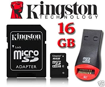 Kingston 16 GB microSDHC Micro SD HC Tarjeta de memoria para ...