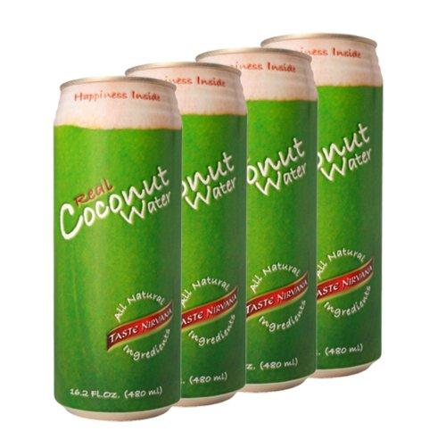 Taste Nirvana Real Coconut Water, 4 Pack by Taste Nirvana