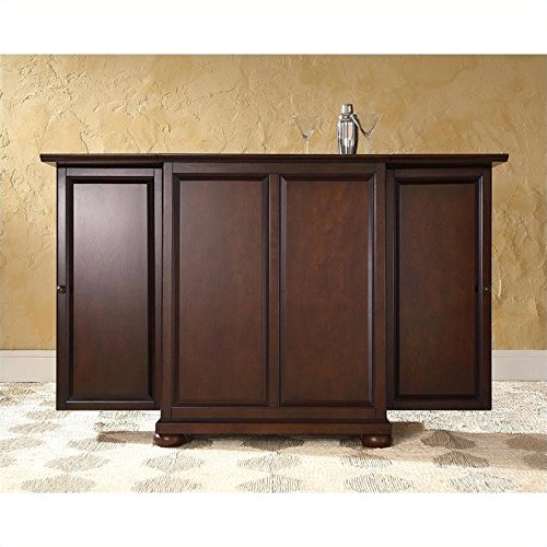 Crosley Furniture Alexandria Expandable Bar Cabinet in Vintage Mahogany Finish
