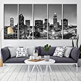 Charlotte Skyline Wall Art Canvas Print for Home Decor and Living Room Decoration - Charlatte City Cityscape Wall Art Canvas Print Framed and Ready to Hang …