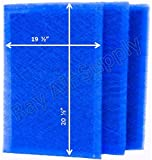 RAYAIR SUPPLY 21x23 Pristine Air Cleaner Replacement Filter Pads 21x23 Refills (3 Pack)