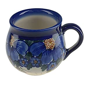 BCV Classic Boleslawiec, Polish Pottery Hand Painted Ceramic Mug Barrel (300, A-064)