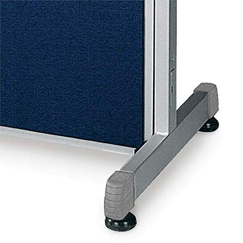 OFM Rize 47'' Poly Panel Supports in Gray (Set of 2)