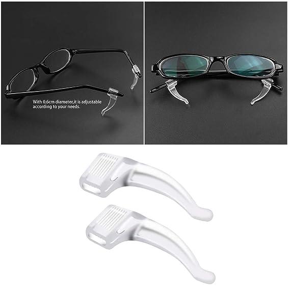 Transparent Yardwe 10 Pairs Ohrb/ügelhaken Anti-Skid Silikon-Ohr-weiche Pads fit f/ür 5mm Sonnenbrille Lesebrille Brille