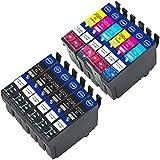 EtroInk Remanufactured for Epson 200XL 200 Printer Ink Cartridges Work with XP-400 XP-410 XP-310 XP-300 XP-200 WF-2010F WF-2010W WF-2530 WF-2520 WF-2540 12Pack(6Black, 2 Cyan,2 Magenta, 2 Yellow)