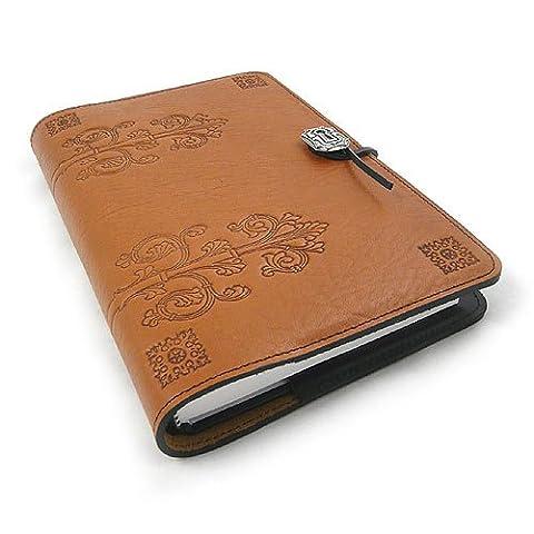 Da Vinci Refillable Embossed Leather Journal, 6 x 9-inch + Refillable Hardbound Insert Book - Oberon Journal