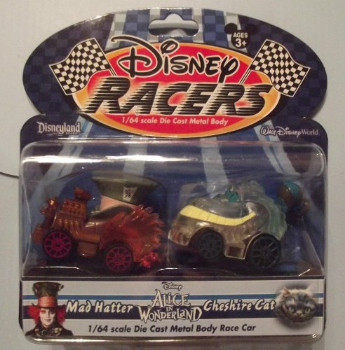 Disney Racers 1/64 Scale Diecast Car Alice in Wonderland Mad Hatter & Cheshire 2 ()