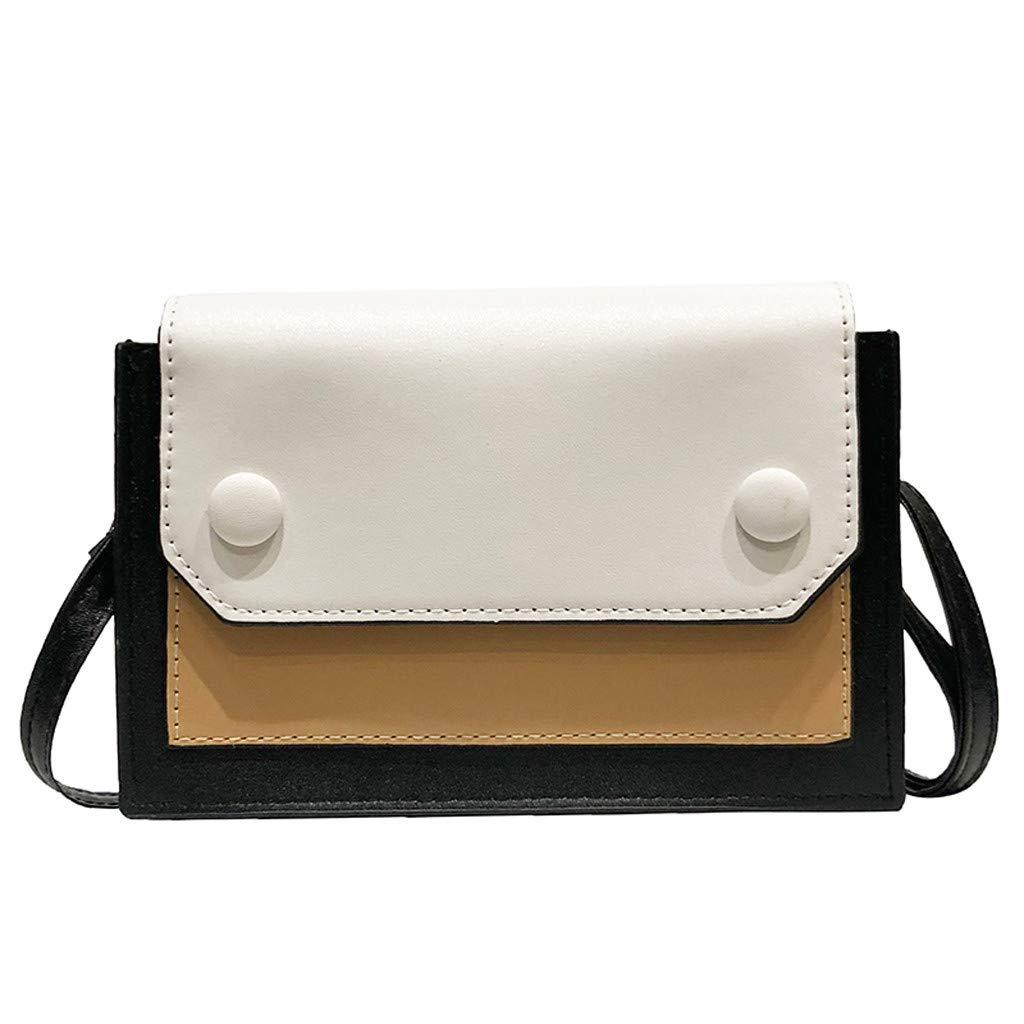 Makeupstory Handbag for Women,Straw Clutch,Fashion Lady Retro Color Matching Versatile Shoulder Bag Messenger Bag Brown