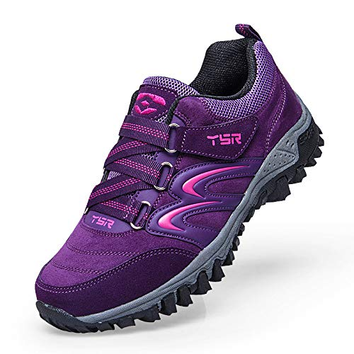 Walking Shoes Autumn Slip Aged Shoes Shoes Mother Female Shoes Non Bottom purple Soft Aged casual sho Sports Middle Casual Shoes Old Lightweight Women'S Middle 85TwqnIX