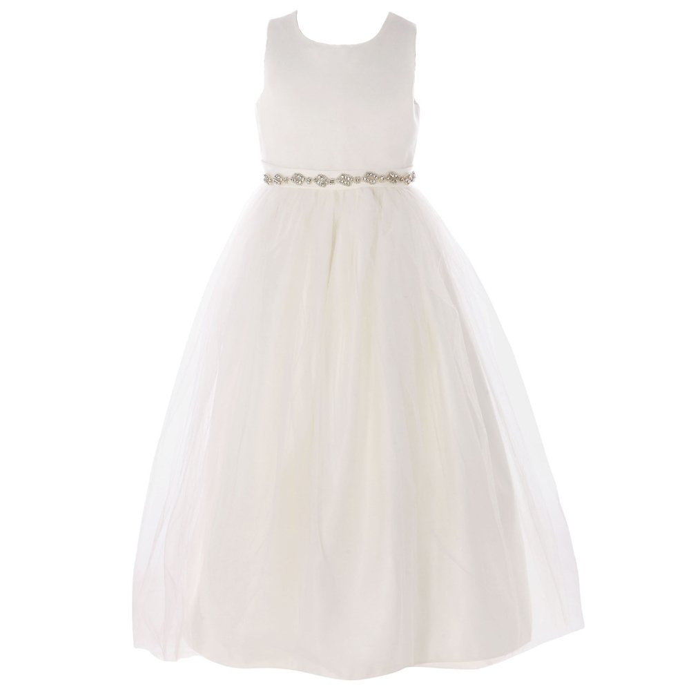 FAYBOX Classy Wedding Flower Girl Dresses Prom Tulle Dress HTQ10058