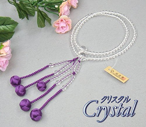 [해외]나카야마 堂 日蓮宗 스타일 묵 본 수정 8 치수 (丸玉) 리큐 브라흐마 술 (술 색깔: 고 대 보라색) 여성용 / Nakayamado Nichiren Sect Honshu Honshu 8 pieces (Marutama) Rikyu Tenbo (Bunch: Ancient Purple) Women`s