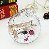 Spot Christmas Decoration Supplies Children Toys Transparent Plastic Christmas Ball Hotel Shopping Malls Christmas Tree Pendant B paragraph