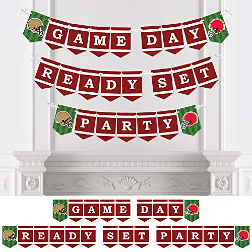 Big Dot of Happiness Super Football Bowl - Sports Game Day Party Bunting Banner - Party Decorations - Game Day Ready Set Party