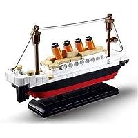 Building Blocks Bricks Movie Titanic Ship Model Cruise Boat Sink Toy Set