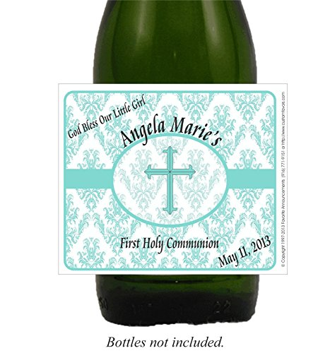 Damask First Holy Communion Self Adhesive Labels, Personalized (set of (Personalized Quinceanera Cross)