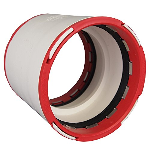 "Charlotte Pipe CTT 00100 1200 Connectite Coupling, PVC, 3"", White"