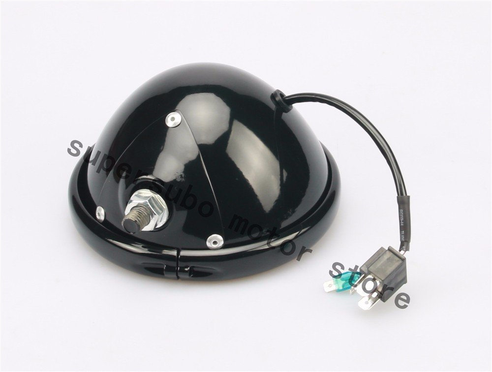 Black motorcycle 5.75 Headligh Housing Bucket /& Wire Harness For Harley Davidson Models