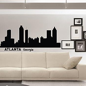 Atlanta Wall Decals Vinyl Stickers City Wall Decal Skyline