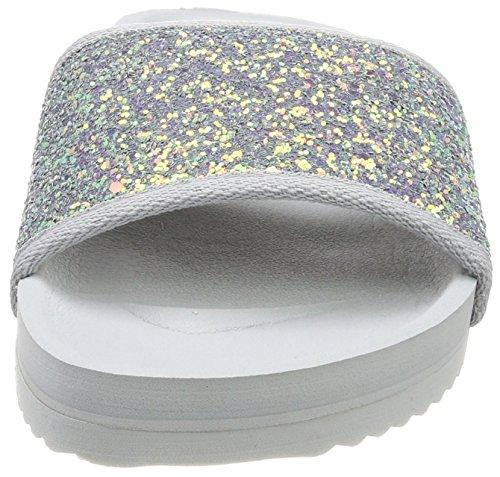 flint Donna Grigio Scarpe glitter Col Grey Tacco Flip 0590 Pool flop q8RaUYF