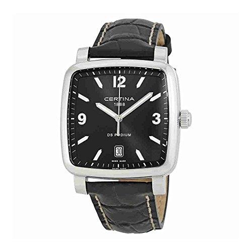 Certina Men's DS Podium Black Leather Band Steel Case Sapphire Crystal Quartz Watch C025.510.16.057.00