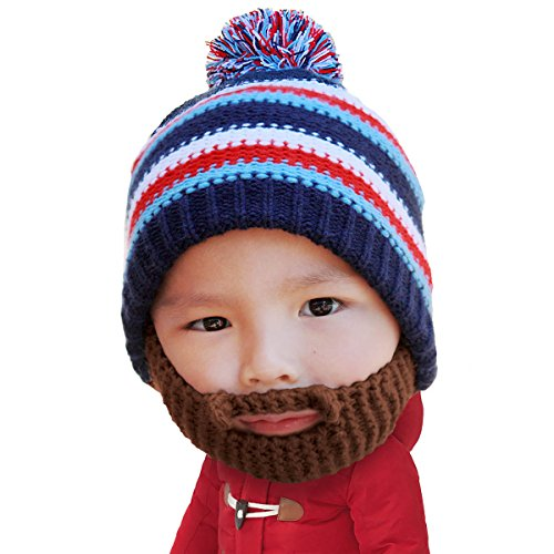 Beard Head - The Original Kid Gromm Knit Beard Hat (Brown)