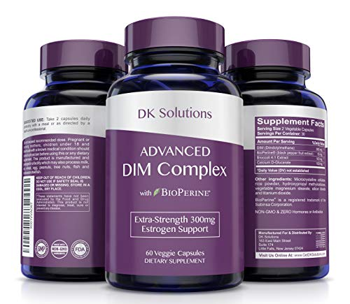 Best Natural DIM Supplement 150mg Plus BioPerine - Extra Strength Complex for Menopause Relief, Aromatase Inhibitor, Estrogen Balance, PCOS, PMS & Perimenopause - Hormone Support For Women of All Ages