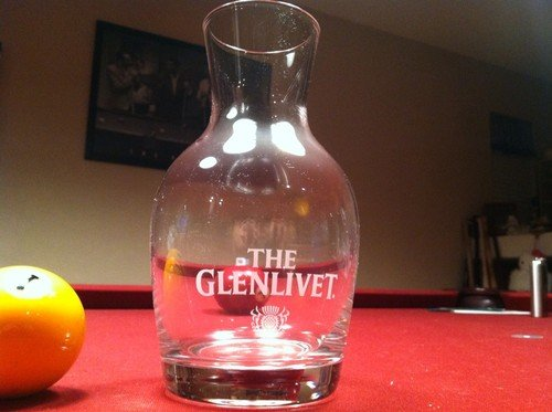 The Glenlivet Scotch Whiskey Professional Series Crystal Decanter
