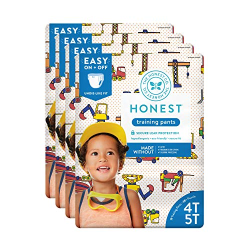The Honest Company Toddler Training Pants, Construction Zone, 4T/5T, 76 Count (Packaging May Vary)