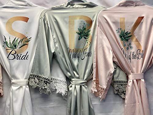 Bridal Robes Personalized Green Bridesmaid Robes Bridesmaid Robes ...