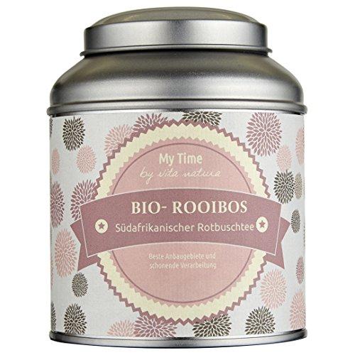 My Time, Rooibos Tee, südafrikanischer Rotbuschtee Bio, 1er Pack (1 x 125 g)