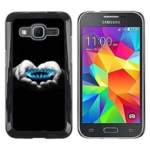 Paccase / SLIM PC / Aliminium Casa Carcasa Funda Case Cover para - gas flame heart hands black white deep - Samsung Galaxy Core Prime SM-G360