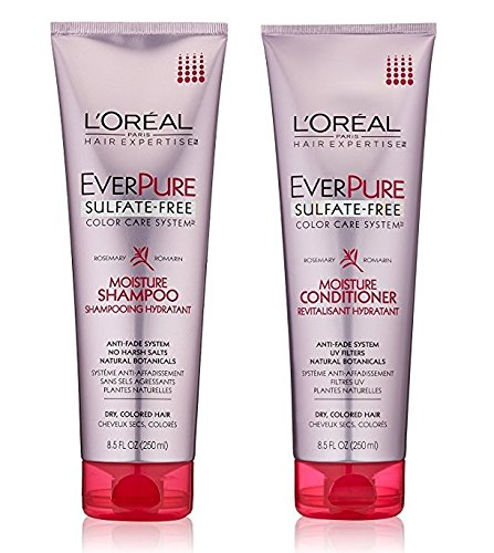 Loreal Hydrating Shampoo (L'Oreal Paris EverPure Sulfate-Free Color Care System Moisture, DUO set Shampoo + Conditioner)