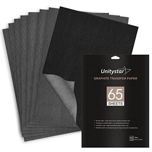 Graphite Transfer Paper, UnityStar 65 Sheets (9