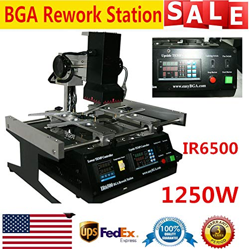 IR6500 Infrared BGA Rework Station Soldering Welding TECH for Xbox360 PS3,laptop mainboard Motherboards Repairing USA STOCK