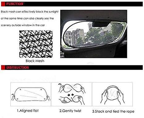 HugeAuto Pare-soleil pour fen/être arri/ère de voiture avec ventouse Installation facile pour enfants//b/éb/és//animaux de compagnie