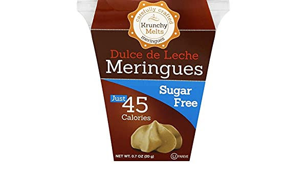 Amazon.com: Krunchy Melts Sugar Free Dulce de Leche Meringues, 0.7-Ounce Cup (Pack of 12)