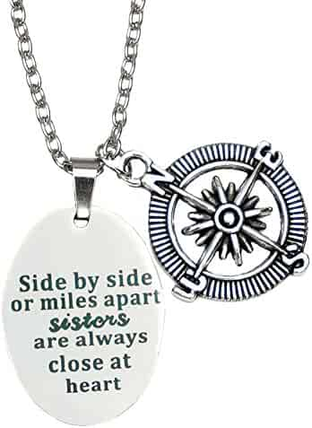 O.RIYA Best Friends Necklace / Bracelet ,Side By Side Or Miles Apart - Best Friends Bracelets - Long Distance Friendship Gifts