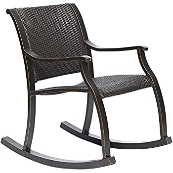 Amazon Com Dali Rattan Rocker Chair Weather Resistant