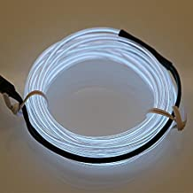 Hatori Flexible Neon Cold Car Vehicle Light Glow Strip Rope EL Wire with 12V Inverter(White)