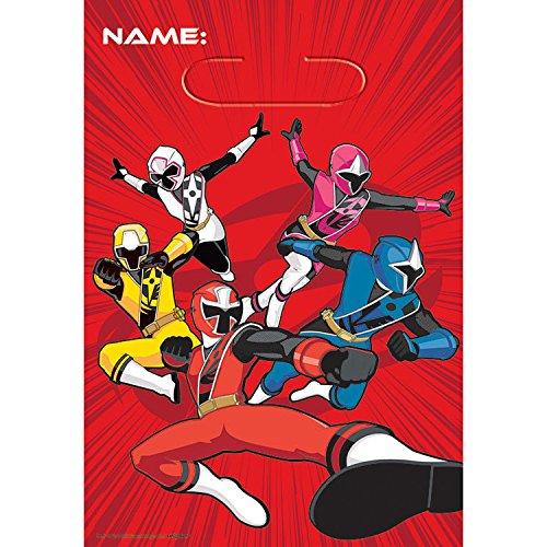 Amscan - Power Rangers NS LOOT Bags - Standard -