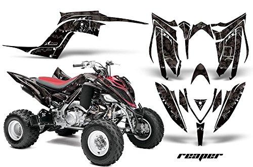 2013-Current- Yamaha Raptor 700 AMRRACING ATV Graphics Decal Kit:Reaper-Black