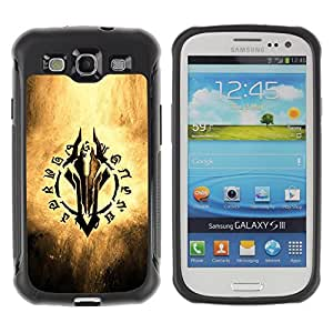 SHIMIN CAO@ Fantasy Game Writing Rugged Hybrid Armor Slim Protection Case Cover Shell For S3 Case ,I9300 Case Cover ,I9308 case ,Leather for S3 ,S3 Leather Cover Case