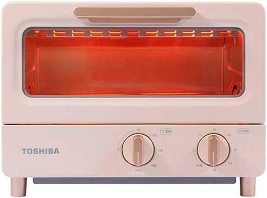 Toaster oven Mini Horno Tostador 8L Tubo de Cuarzo Calefacción 30 Minutos Temporizador 1000W 1 Metro Cable de alimentación Blanco/Rosa: Amazon.es