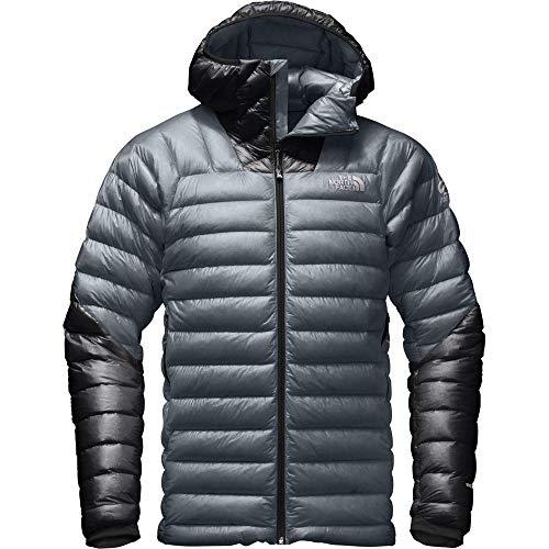 The North Face Men's Summit L3 Down Hoodie Light Puffer Jacket (Turbulence Grey/TNF Black, XL)